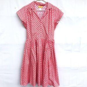Bernie Dexter Kelly Red Gingham dress Size Large